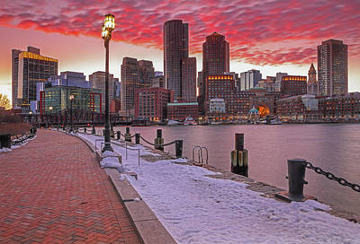 Poster featuring the photograph Boston Ablaze by Juergen Roth
