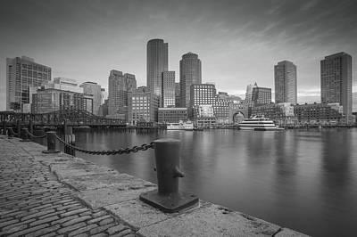 Boston Black And White Poster
