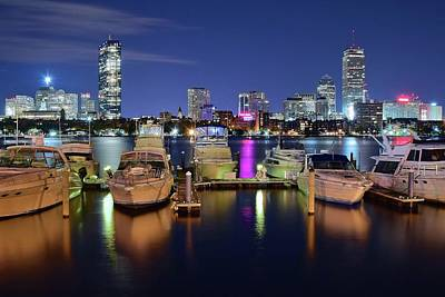 Boston Boats Poster by Frozen in Time Fine Art Photography