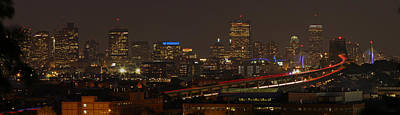 Boston City Panoramic Poster
