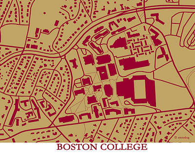 Boston College Campus Poster by Spencer Hall