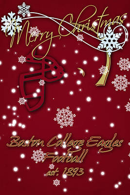 Boston College Eagles Christmas Card Poster by Joe Hamilton