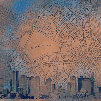 Boston Common Poster by Brandi Fitzgerald