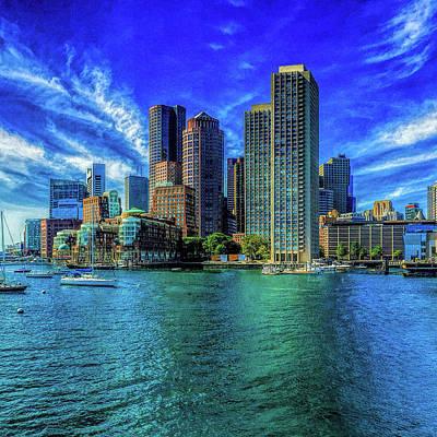 Boston Harbor Reflected Poster