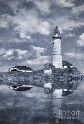 Poster featuring the photograph Boston Light  by Ian Mitchell