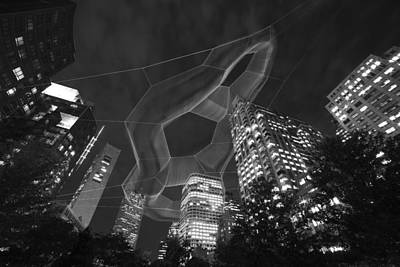 Boston Ma Rose Kennedy Greenway Black And White Poster by Toby McGuire