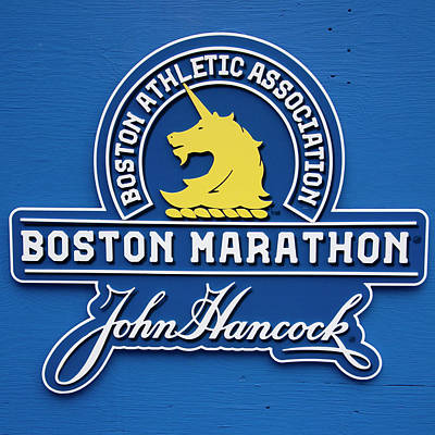 Poster featuring the photograph Boston Marathon - Boston Athletic Association by Joann Vitali
