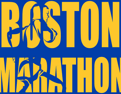 Boston Marathon Poster by Joe Hamilton