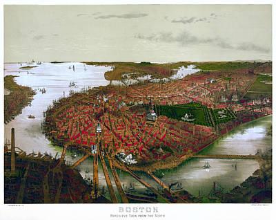 Boston Massachusetts  1877  Poster by Daniel Hagerman