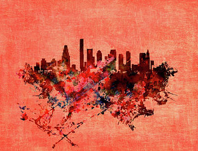 Boston, Massachusetts Cityscape 1a Poster by Brian Reaves