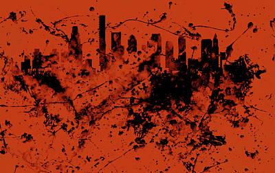Boston, Massachusetts Cityscape  1c Poster by Brian Reaves
