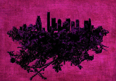 Boston Massachusetts Cityscape 1d Poster by Brian Reaves