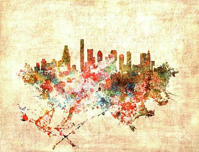 Boston Massachusetts Cityscape 1f Poster by Brian Reaves