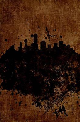 Boston Massachusetts Skyline  Poster by Brian Reaves