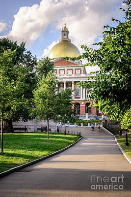 Boston Massachusetts State House Photo Poster