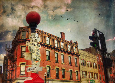 Boston North End - Italian Street Signs Poster by Joann Vitali