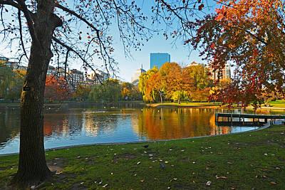 Boston Public Garden Autumn Hancock Poster by Toby McGuire