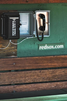 Boston Red Sox Dugout Telephone Poster by Susan Candelario