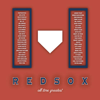 Boston Red Sox Art - Mlb Baseball Wall Print Poster by Damon Gray