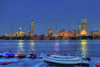 Boston Skyline At The Mit Sailing Pavilion Poster