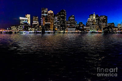Boston Skyline At Twilight Poster by Tamyra Ayles