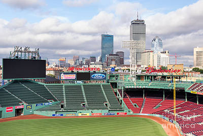 Boston Skyline From Fenway Park Poster by Dawna  Moore Photography