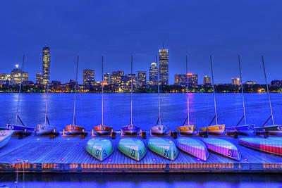 Boston Skyline From Mit Sailing Pavilion Poster by Joann Vitali
