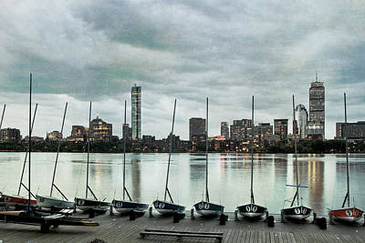 Boston Skyline From The Mit Sailing Pavilion - Cambridge Ma Poster by Joann Vitali