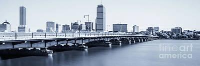 Boston Skyline Harvard Bridge Panorama Photo Poster by Paul Velgos