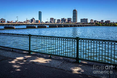Boston Skyline Harvard Bridge Photo Poster by Paul Velgos
