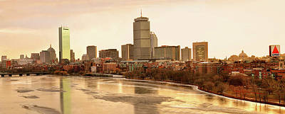 Boston Skyline On A December Morning Poster