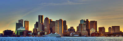 Boston Skyline Panoramic From Boston Harbor Poster