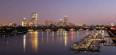 Boston Skyline Photography Poster by Juergen Roth