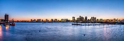 Boston Skyline Poster by Tim Sullivan