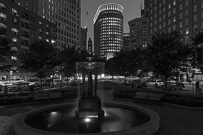 Poster featuring the photograph Boston Statler Park In Black And White by Juergen Roth