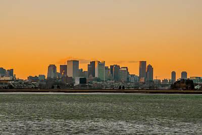 Boston Sunset Poster