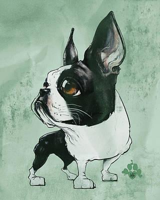 Boston Terrier - Green  Poster