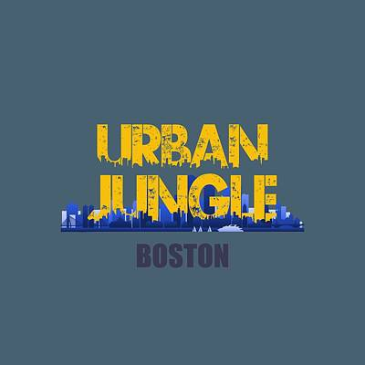 Boston Urban Jungle Shirt Poster