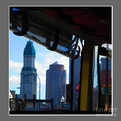 Boston Views From Tour Bus Window Poster by Navin Joshi