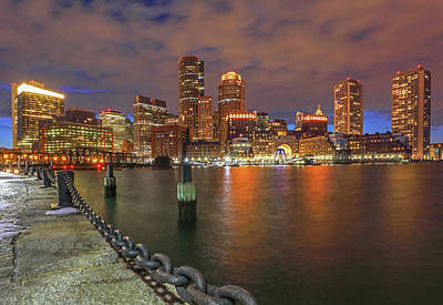 Poster featuring the photograph Boston Waterfront District by Juergen Roth