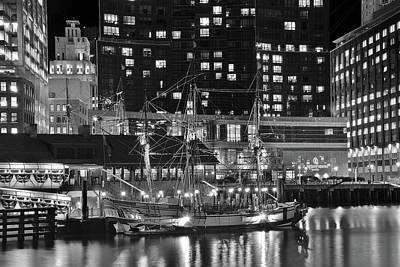 Poster featuring the photograph Bostonian Black And White by Frozen in Time Fine Art Photography
