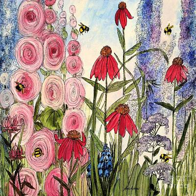 Botanical Wildflowers Poster by Laurie Rohner