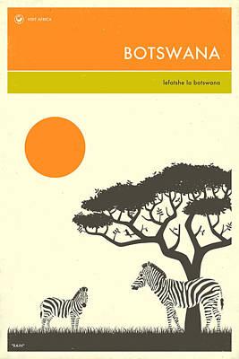 Botswana Travel Poster Poster
