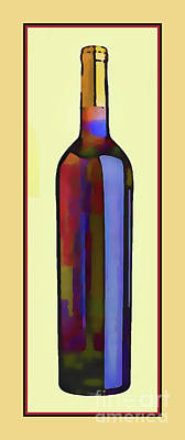 Bottle Of Red Poster