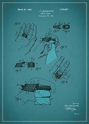 Bottle Opener Patent 1926 Poster by Mark Rogan