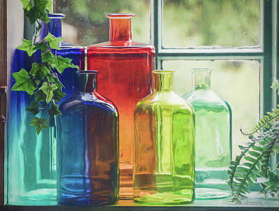 Bottles In The Window Poster