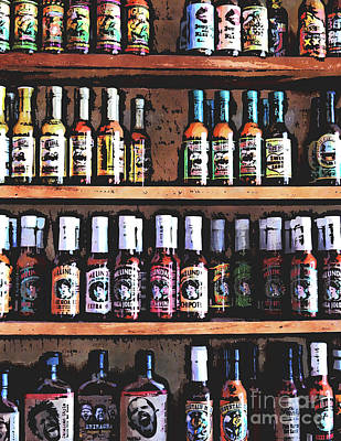 Bottles Of Hot Sauce Poster