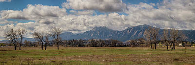 Poster featuring the photograph Boulder Colorado Front Range Panorama View by James BO Insogna