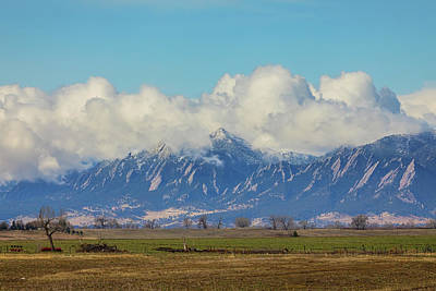 Poster featuring the photograph Boulder Colorado Front Range Cloud Pile On by James BO Insogna