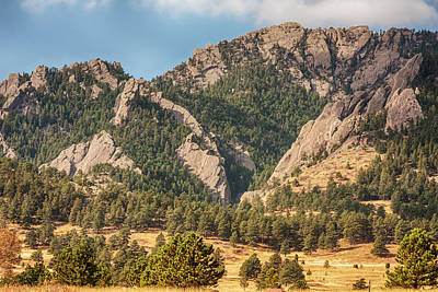 Poster featuring the photograph Boulder Colorado Rocky Mountain Foothills by James BO Insogna
